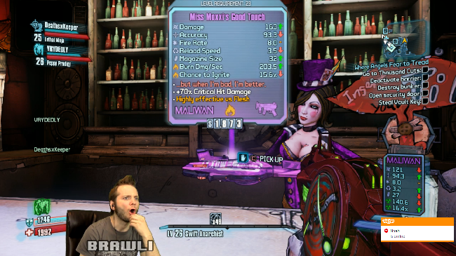 Overbored Gaming:  Moxxi's Good Touch