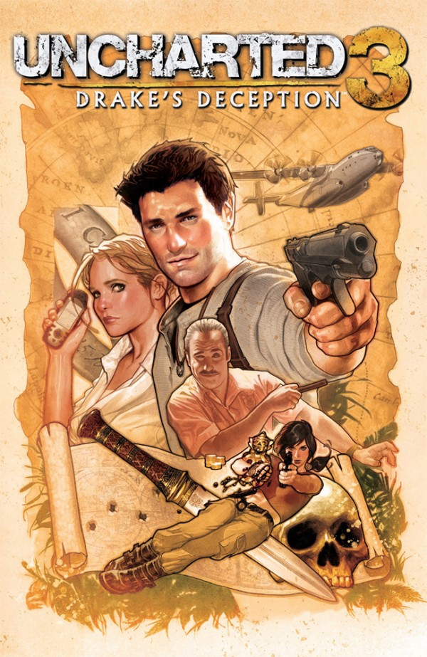 Comic-Con '11: Uncharted comic series from DC incoming, Del Rey's Uncharted: The Fourth Labyrinth gets its cover