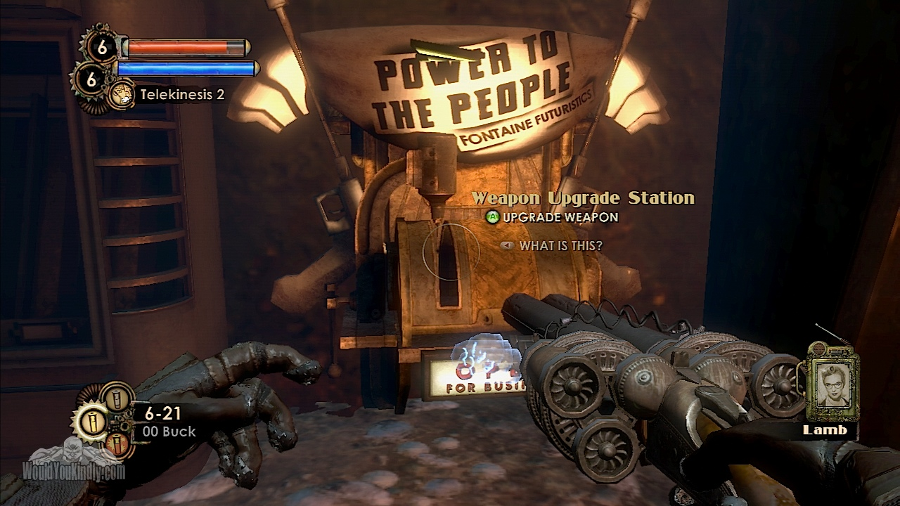 Wouldyoukindly Com Bioshock 2 Weapon Upgrade Station